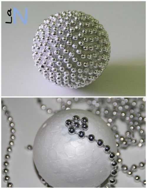 decoração bola de isopor