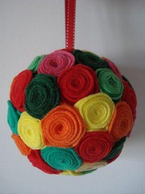 bola de natal feltro