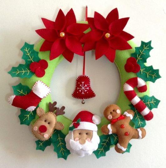 guirlanda com Papai Noel