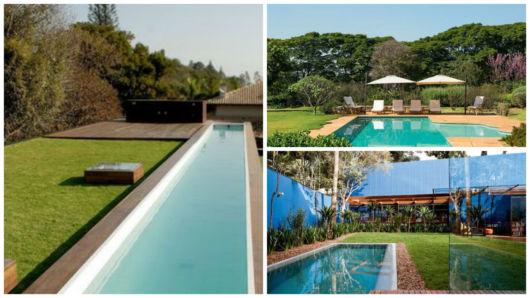 jardins com piscinas