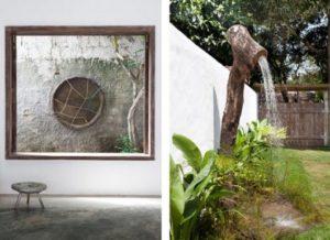 chuveiro para piscina rústico de tronco