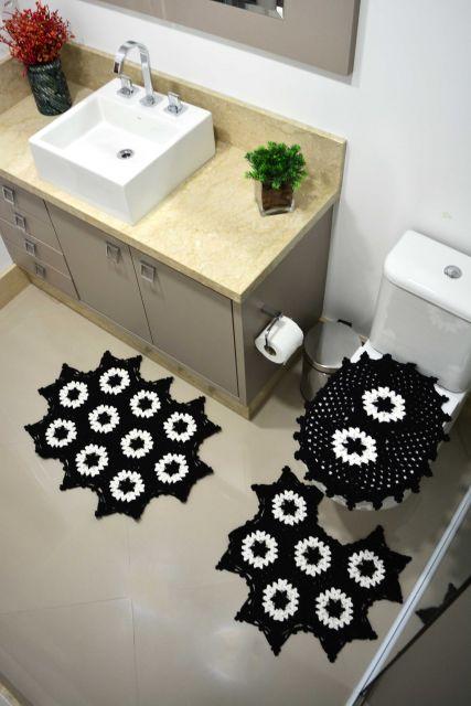 kit banheiro preto