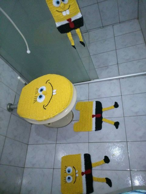 bob esponja banheiro