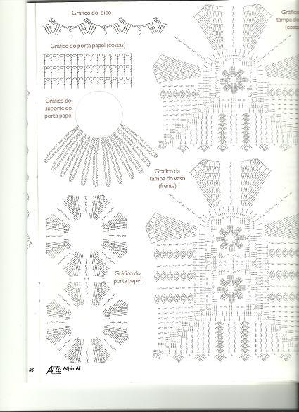 Jogo de banheiro de crochê 88 inspirações lindas; e gráficos e receitas! -> Jogo De Banheiro Simples De Croche Com Grafico