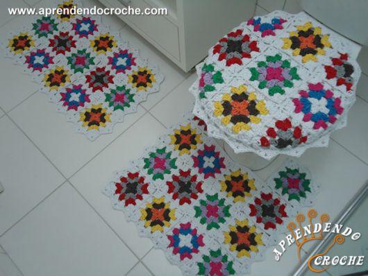 Jogo de banheiro de crochê 88 inspirações lindas; e gráficos e receitas! # Jogo De Banheiro Simples Croche