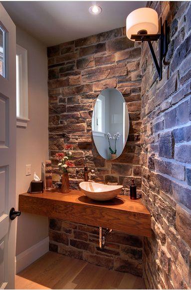 Banheiro r stico modelos dicas para decorar e de 40 fotos for Lavabos para restaurantes