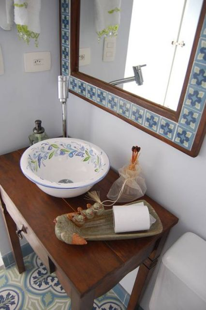 Banheiro Rústico Modelos, dicas para decorar e + de 40 fotos! -> Pia Para Banheiro Rustico
