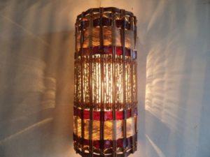 luminárias rústicas artesanato