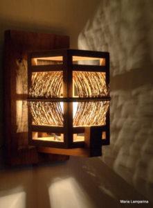 luminárias rústicas arandela artesanal