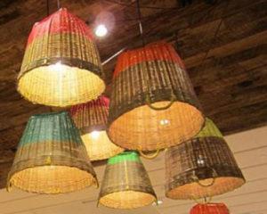 luminárias rústicas feitas com palha