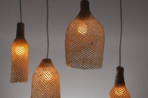 luminárias rústicas de palha