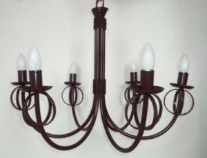 luminárias rústicas lustre