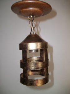 luminárias rústicas pendente de ferro