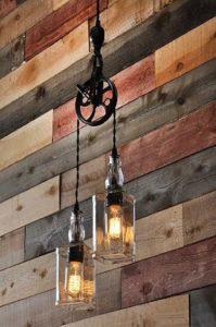 luminárias rústicas na decoração de casa