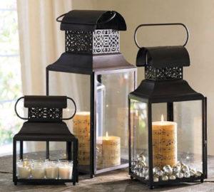 como decorar com luminárias rústicas