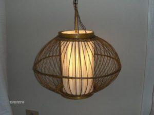 luminárias rústicas pendente de palha