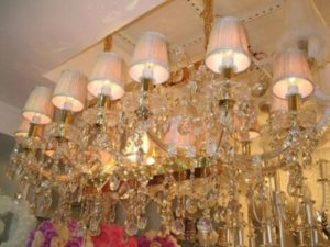 lustres no Paraguai lourado de cristal