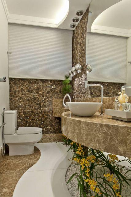 lavabo com jardim