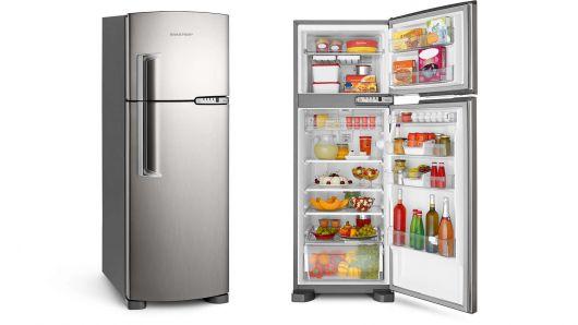 modelo geladeira inox