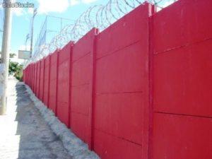instalação de muro pré moldado