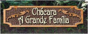 placas de nomes de chácaras