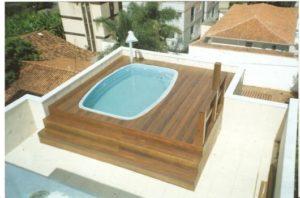 modelos de piscina na laje com deck