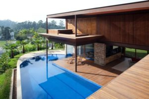 piscina na laje luxo