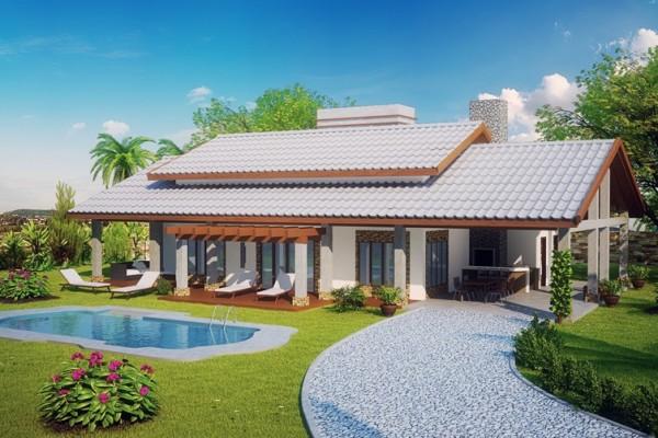casa térrea com piscina