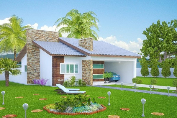 Plantas de casas com 3 quartos 37 inspira es e projetos for Simulador de casas 3d gratis