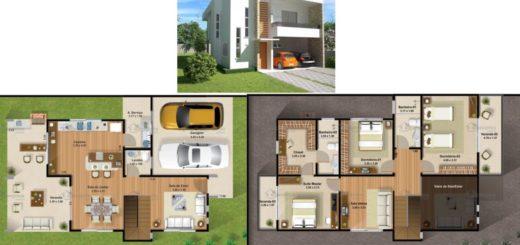 O projeto tem 200 m² e fachada moderna