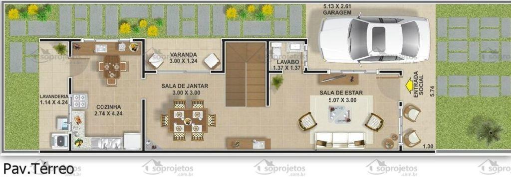 Extremamente Plantas de casas com 3 quartos: 37 inspirações e projetos grátis! FG78