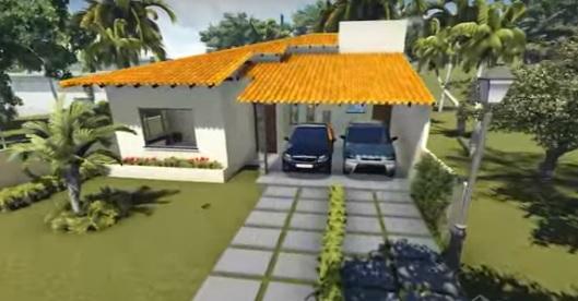 fachada com garagem 2 carros