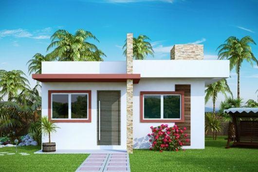 casa moderna com pedras