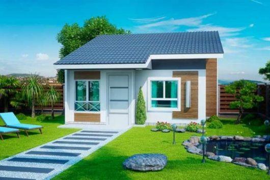 moderna com telhado aparente