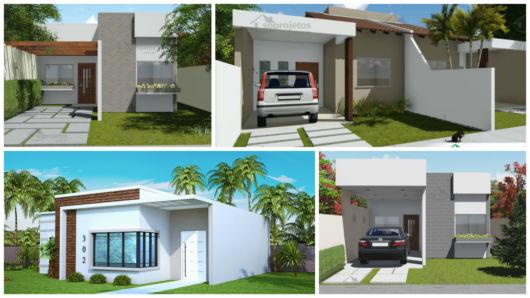 projetos casa moderna e pequena