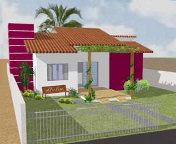 projeto casa com portão