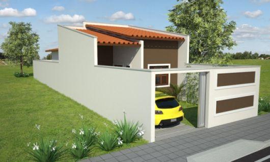 casa com muro e portão