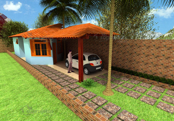 Plantas e projetos de casas populares gr tis 50 modelos for Paginas para construir casas