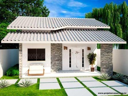 Plantas e projetos de casas populares gr tis 50 modelos for Fachadas de casas modernas planta baja