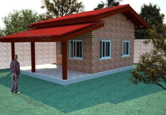 casa de tijolo a vista
