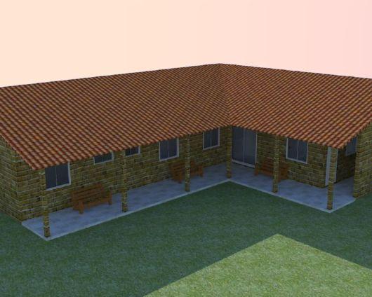 Plantas e projetos de casas populares gr tis 50 modelos - Fotos de casas en forma de l ...