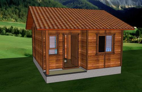casa de madeira pequena