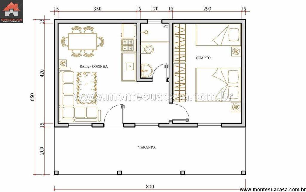 Favoritos Plantas e projetos de casas populares grátis: 50 modelos incríveis! VZ97