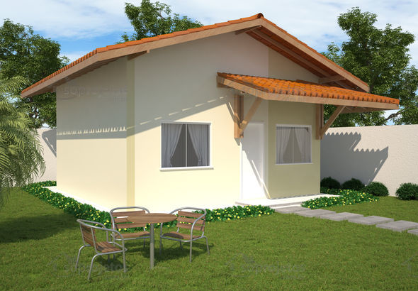 fachada simples e pequena