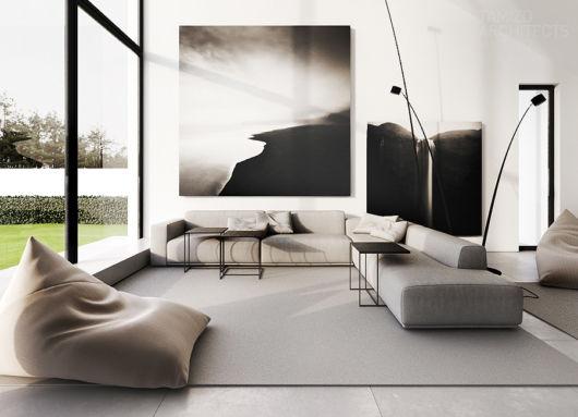 sala-clean-moderna-com-sofa-cinza