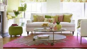 dicas para sala colorida com tapete