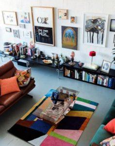 modelos de tapete para sala colorida
