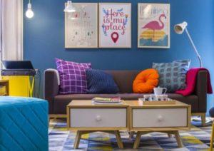 fotos de sala colorida