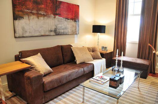 Sala De Tv Sofa Marrom ~ Sala com Sofá Marrom Ideias, melhores combinações e 30 fotos!