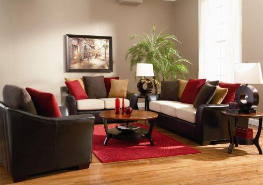 sala-com-sofa-marrom-decor-vermelha